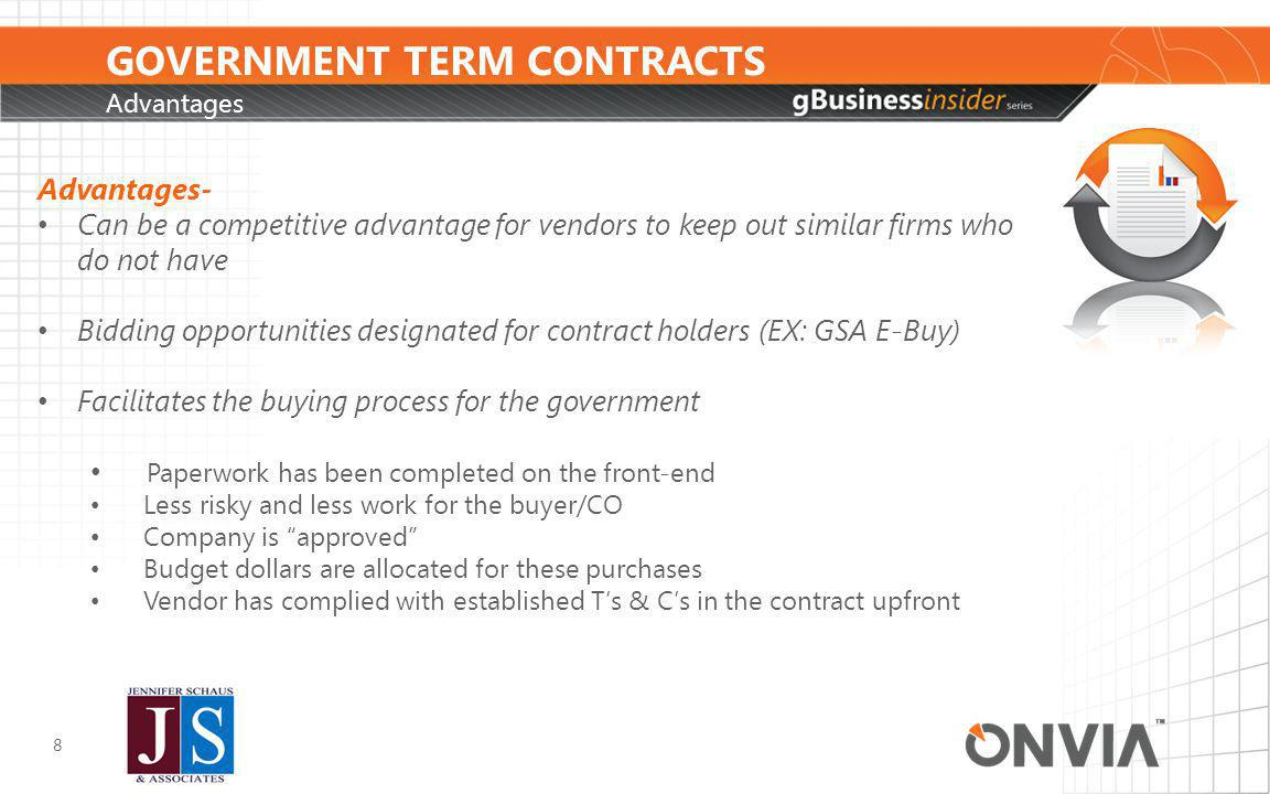 GOVERNMENT TERM CONTRACTS How is government using Term Contracts.