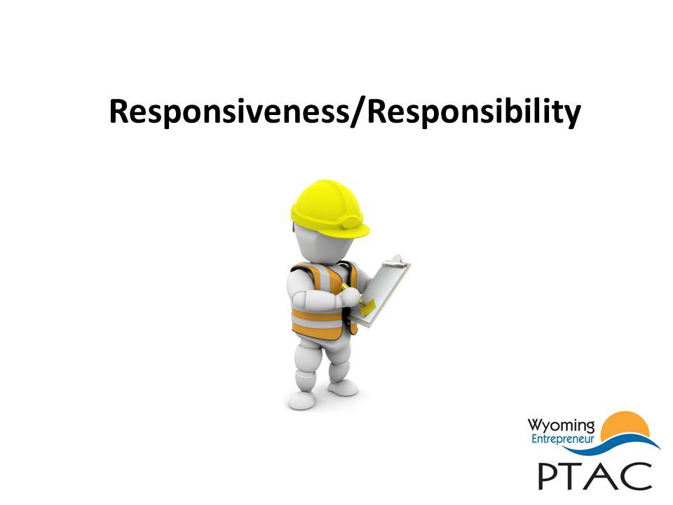 Responsiveness/Responsibility