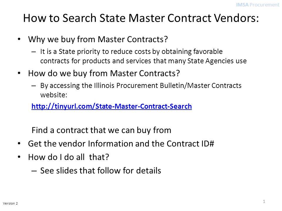 IMSA Procurement Alternate Ways to Search 12