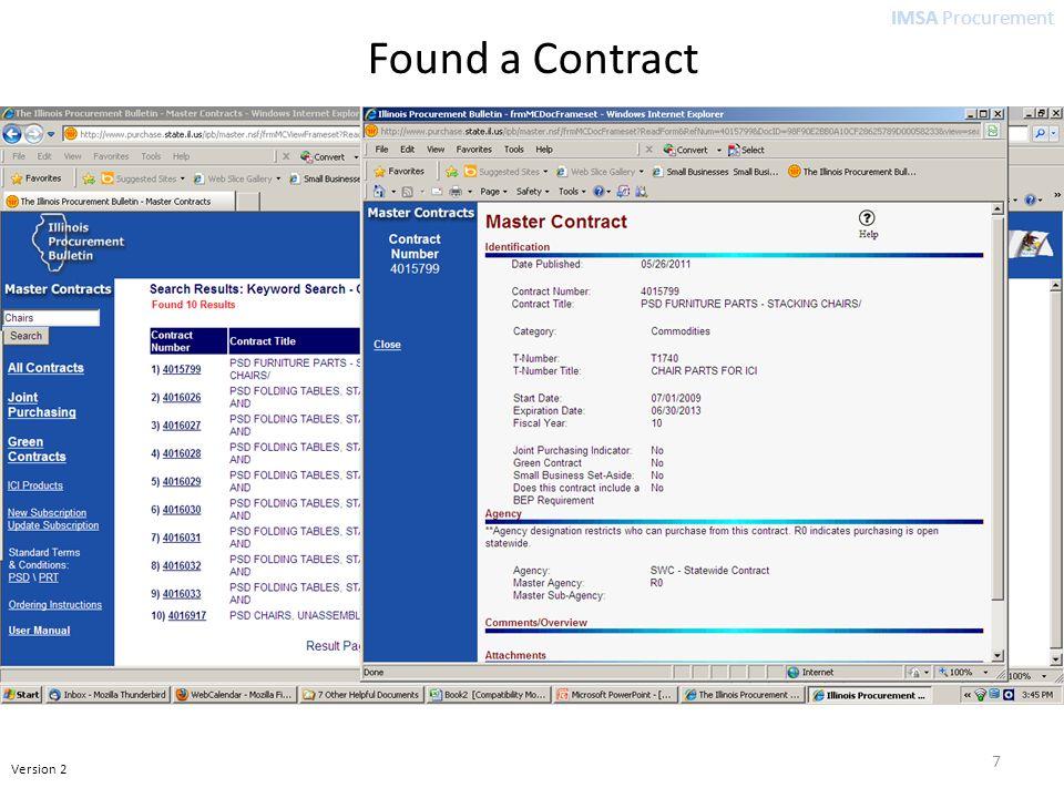 IMSA Procurement Version 2 7 Found a Contract