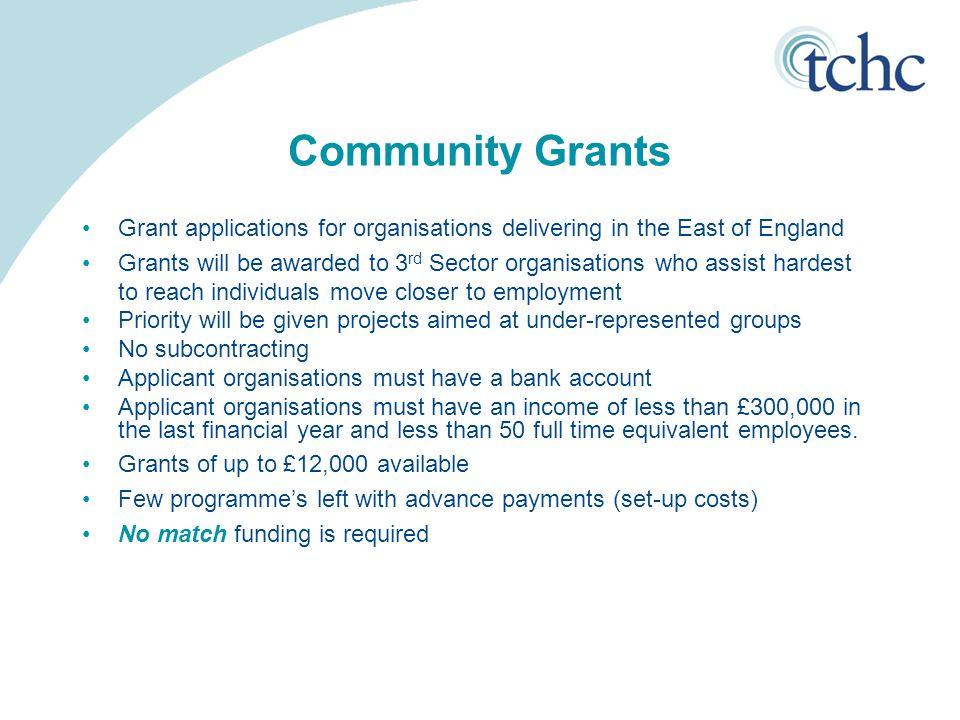 Community Grants cont...