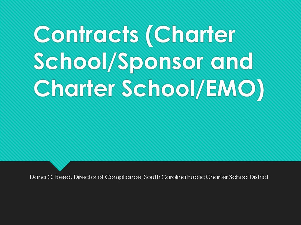 The Charter School Contract What is a charter school contract.