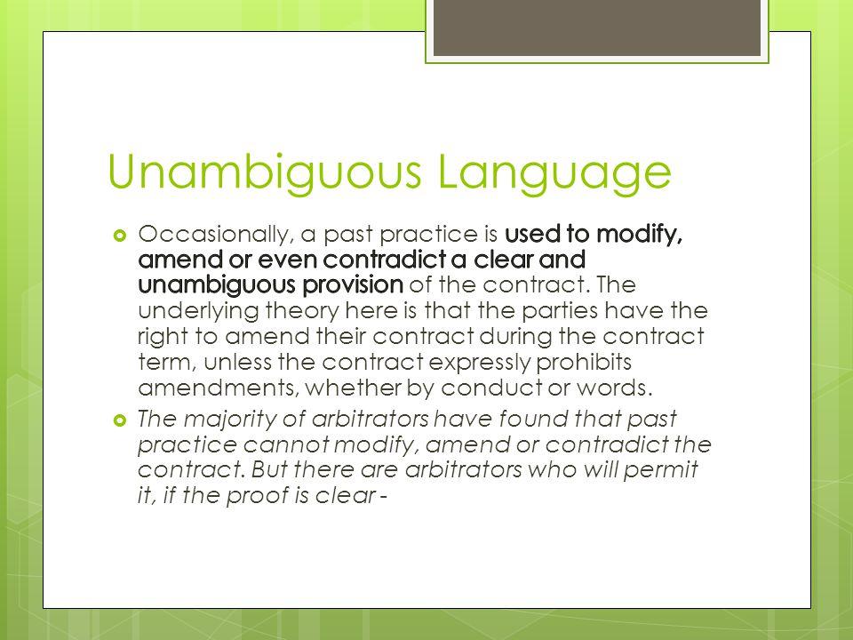 Unambiguous Language