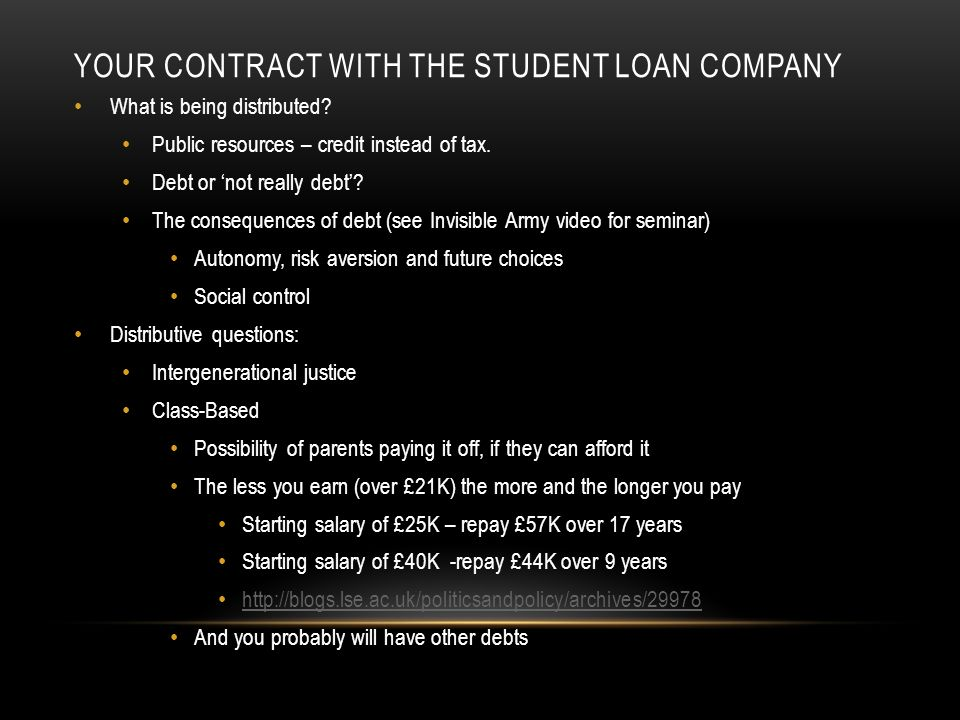 STUDENT DEBT AS PRODUCT – OTHER CONTRACTS Privatising the Student Loan Book YOU ARE PRODUCING SURPLUS RISK FOR SALE BY THE GOVERNMENT.