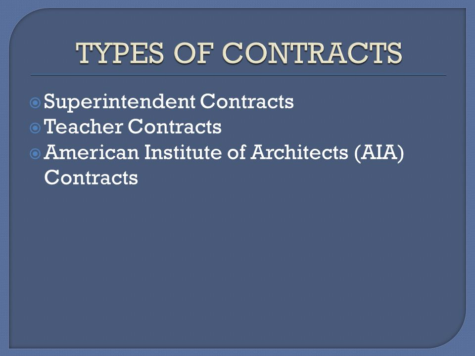 Superintendent Contracts Teacher Contracts American Institute of Architects (AIA) Contracts