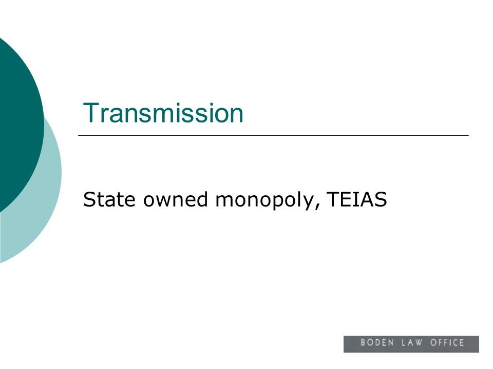 Transmission State owned monopoly, TEIAS