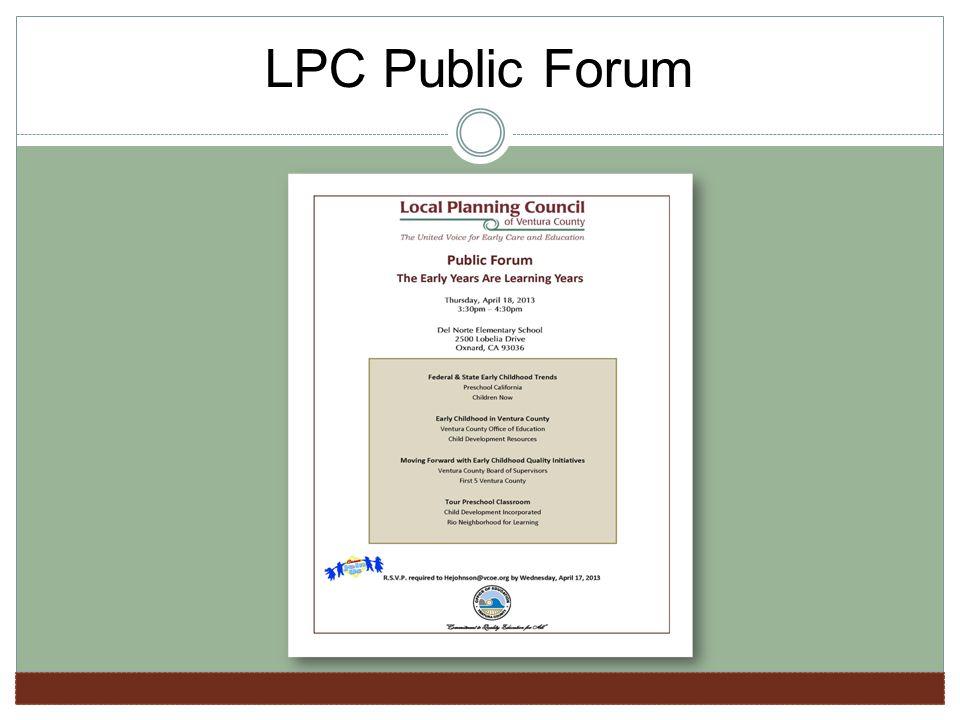 LPC Public Forum