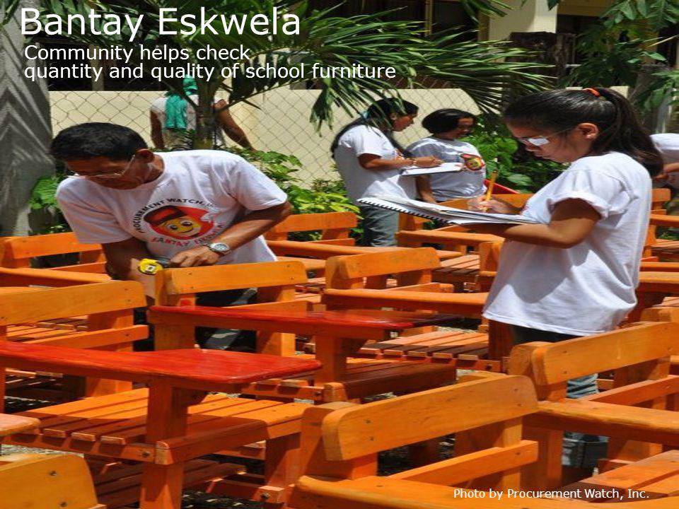 Bantay Eskwela Photo by Procurement Watch, Inc.