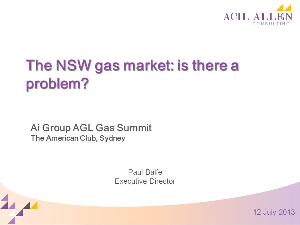 The NSW gas market: is there a problem.