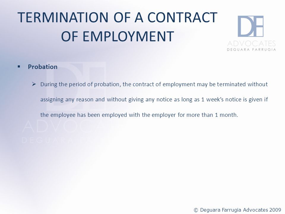 TERMINATION OF A CONTRACT OF EMPLOYMENT Enforcement and non-compliance Any employer who contravenes or fails to comply with any recognised conditions of employment or with any provisions of the EIRA or any regulations made thereunder shall, unless otherwise provided in the act, on conviction be liable to a fine (multa) of not less than 232.94 and not exceeding 2,329.37.