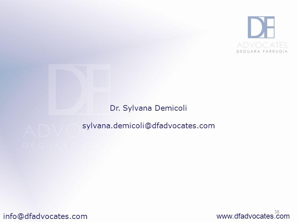 www.dfadvocates.com 38 Dr. Sylvana Demicoli sylvana.demicoli@dfadvocates.com info@dfadvocates.com