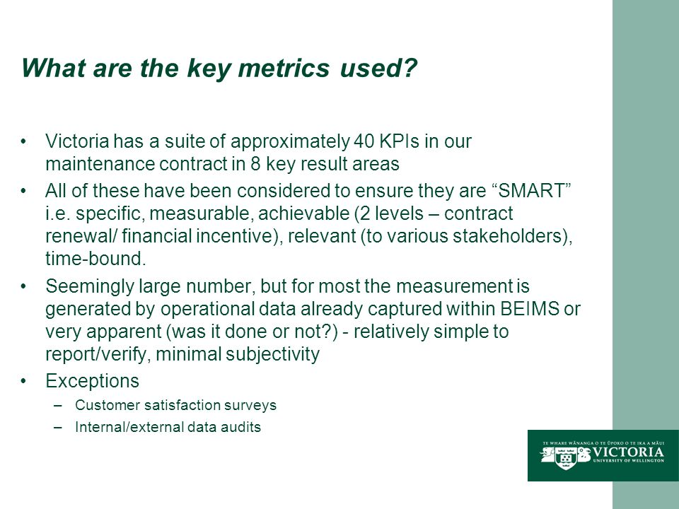 What are the key metrics used.