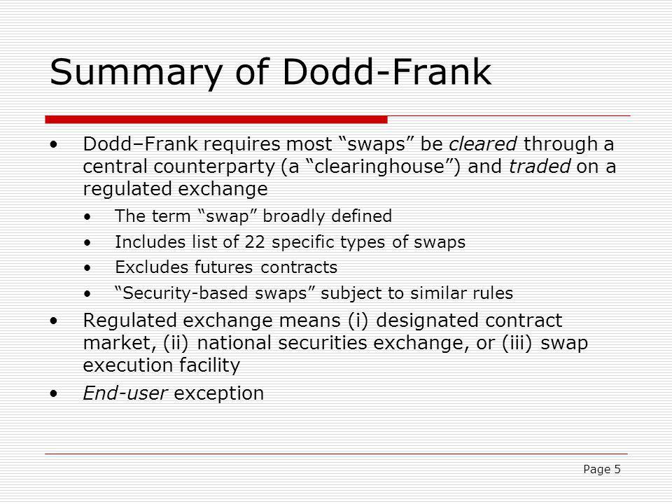 Page 6 Scope of Dodd-Frank Amendment.
