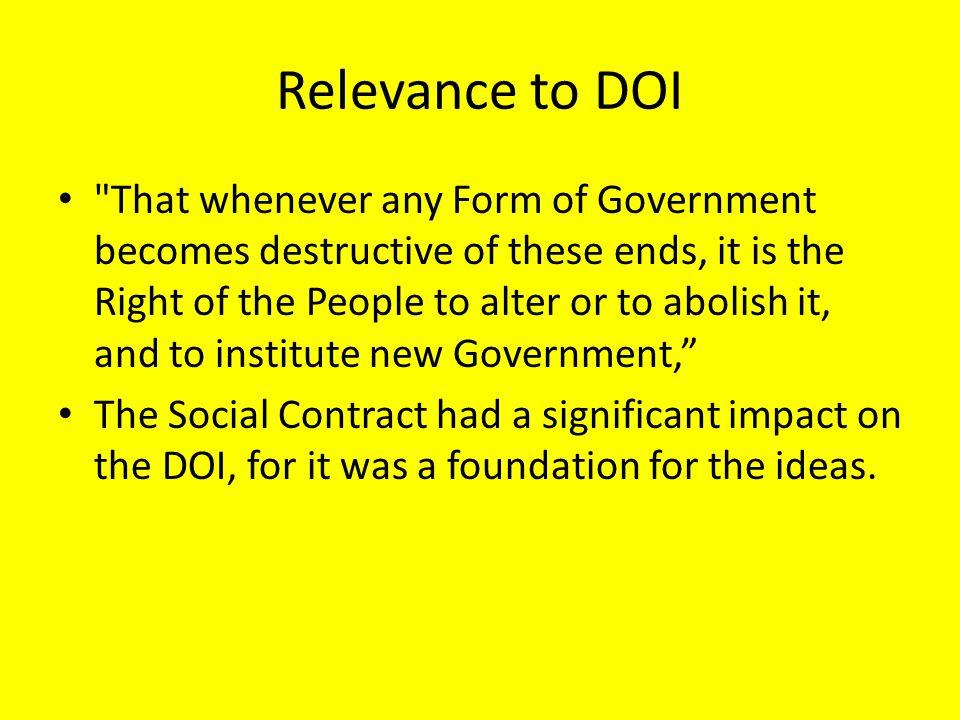 Relevance to DOI