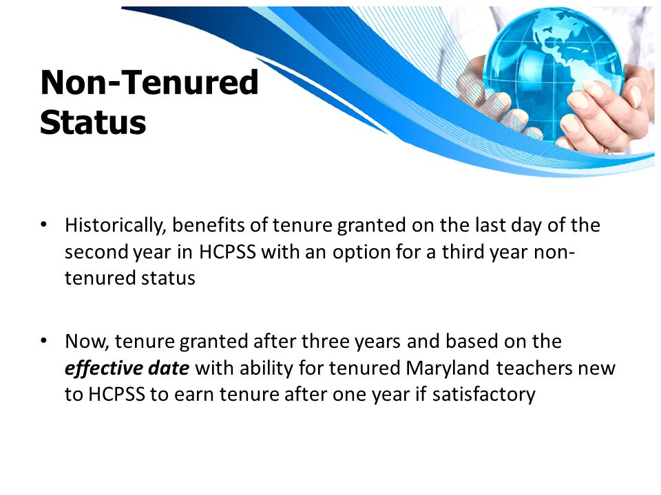 Effective Date on or after July 1, 2010 Conditional Staff on a Provisional Contract: Will receive tenure three years from the effective date pending satisfactory performance each year and completion of all other certification requirements.