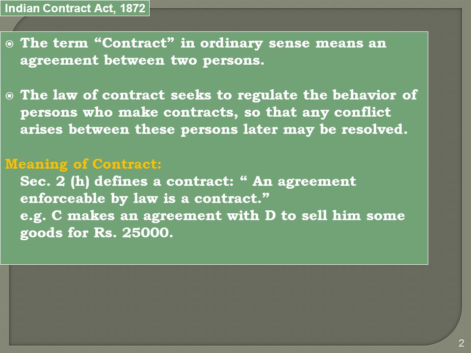 Indian Contract Act, 1872 13 2.Classification of Contract on the basis of Mode of formation a.