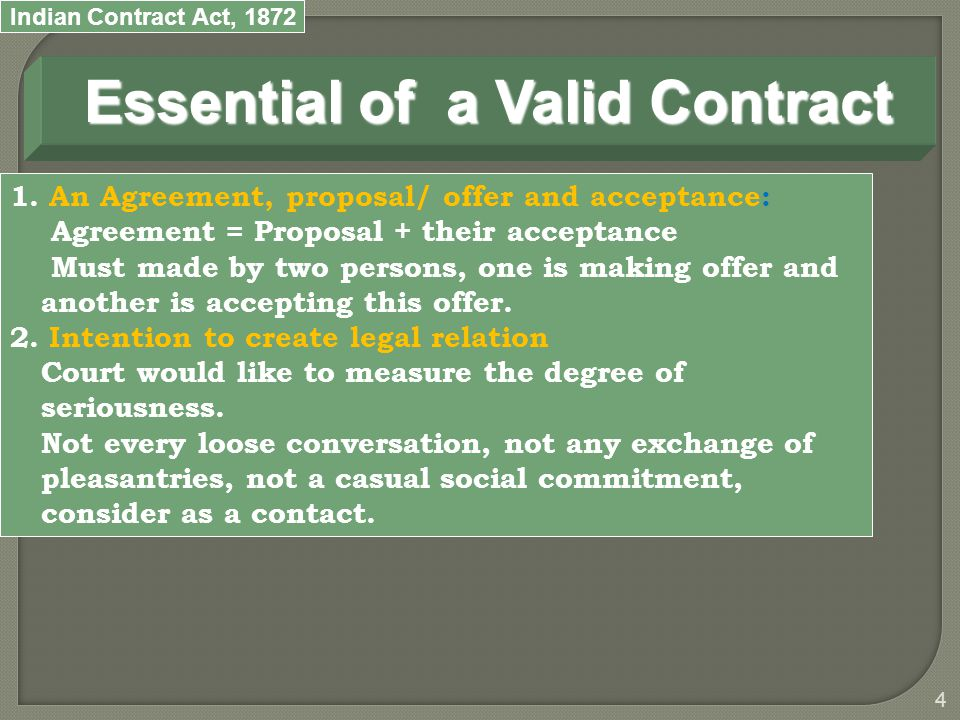 Indian Contract Act,