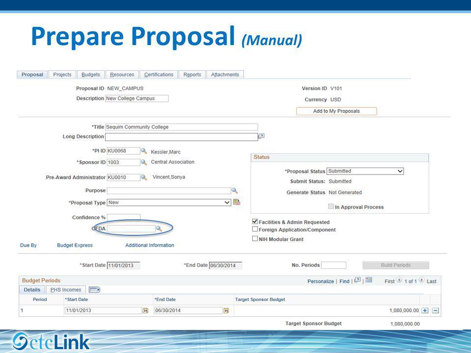 Prepare Proposal (Manual)