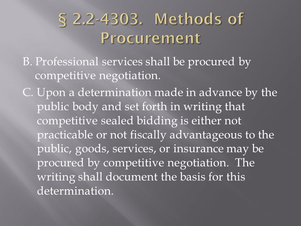 Every public body awarding public contracts shall establish procedures whereby comments concerning specifications or other provisions in Invitations to Bid or Requests for Proposal can be received and considered prior to the time set for receipt of bids or proposals or award of the contract.
