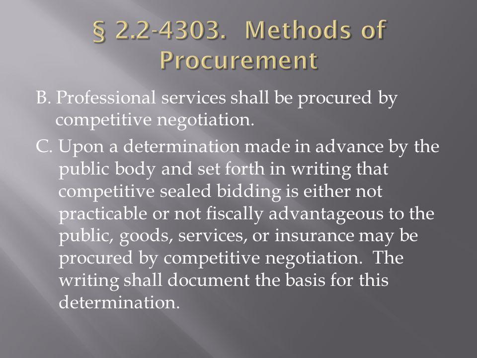 § 2.2-4358.Appeal of denial of withdrawal of bid § 2.2-4359.