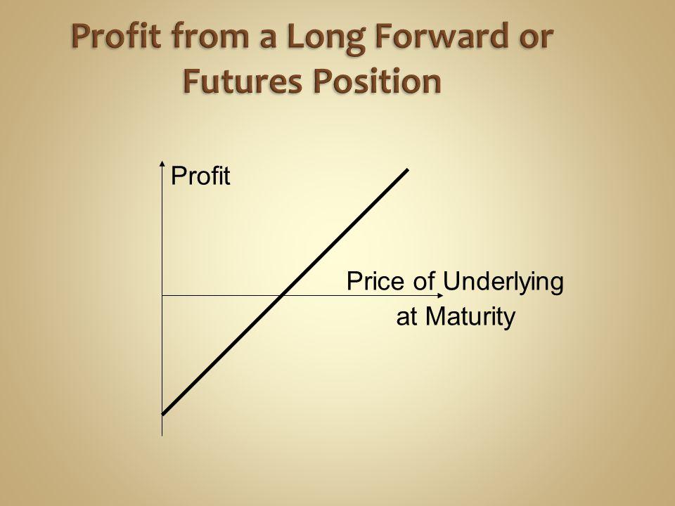 Profit Price of Underlying at Maturity