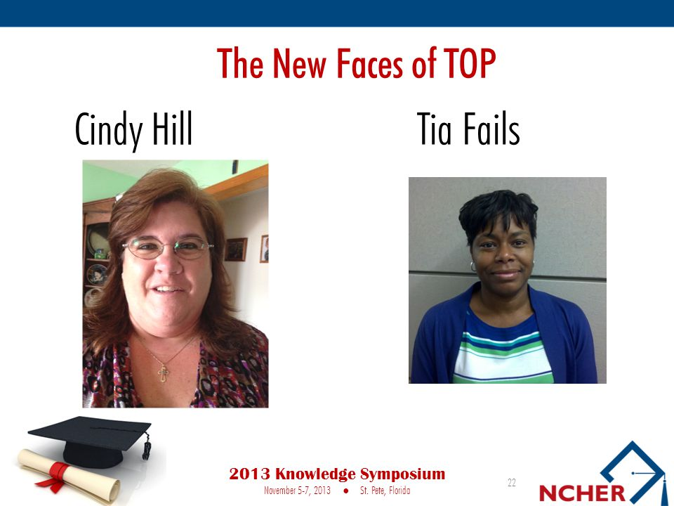 The New Faces of TOP 22 2013 Knowledge Symposium November 5-7, 2013 St.