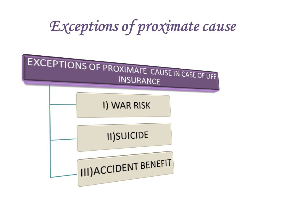 Exceptions of proximate cause