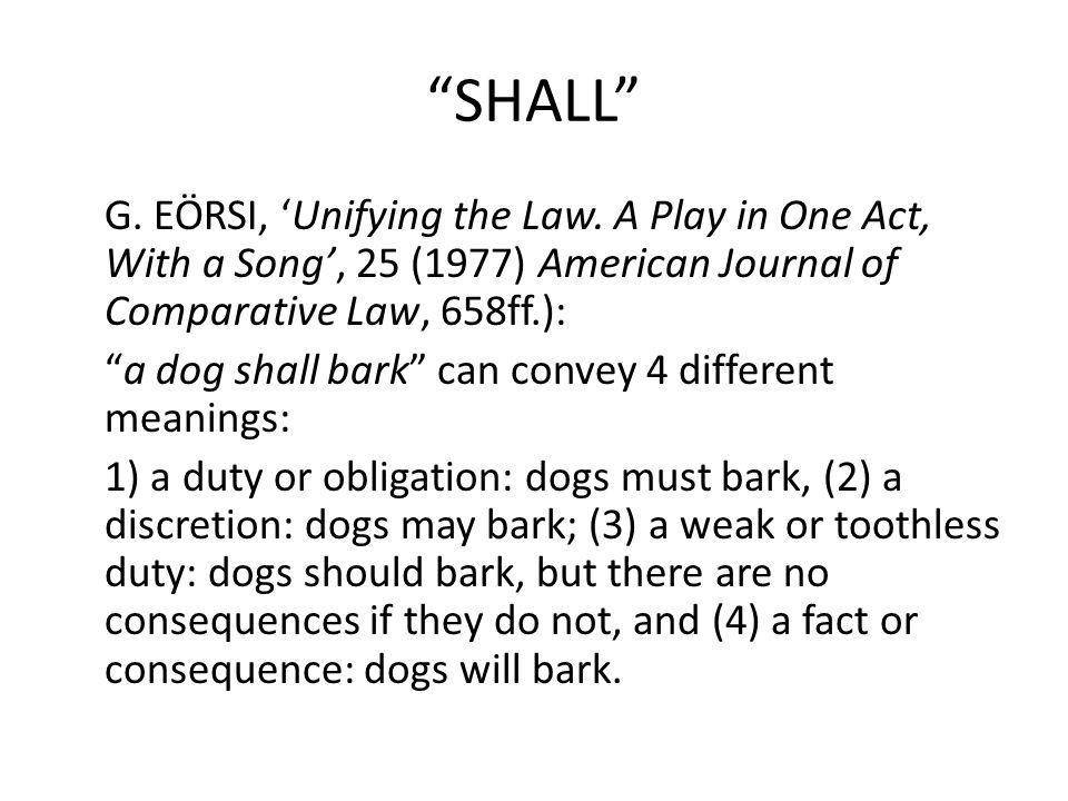 SHALL G. EÖRSI, Unifying the Law.