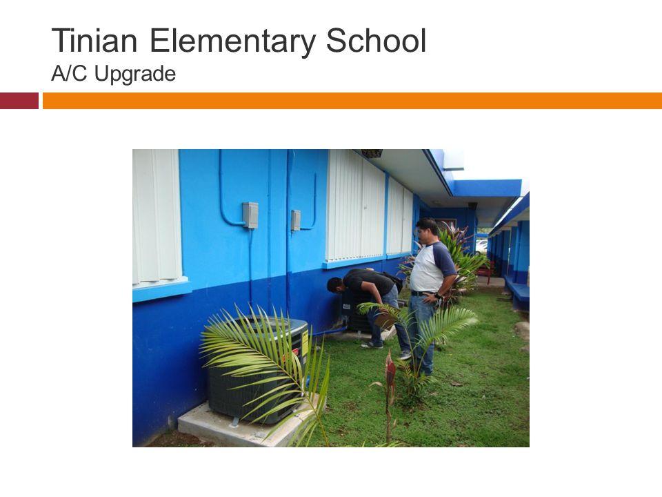 Tinian Elementary School A/C Upgrade