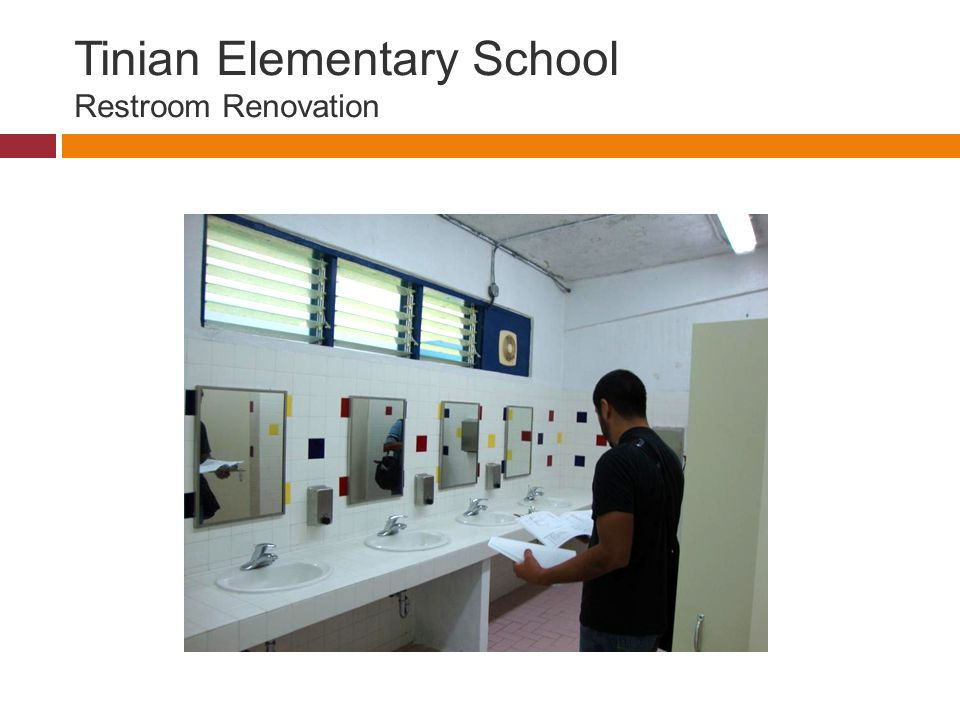Tinian Elementary School Restroom Renovation