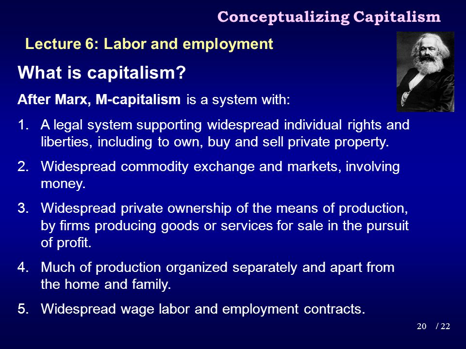 What is capitalism.