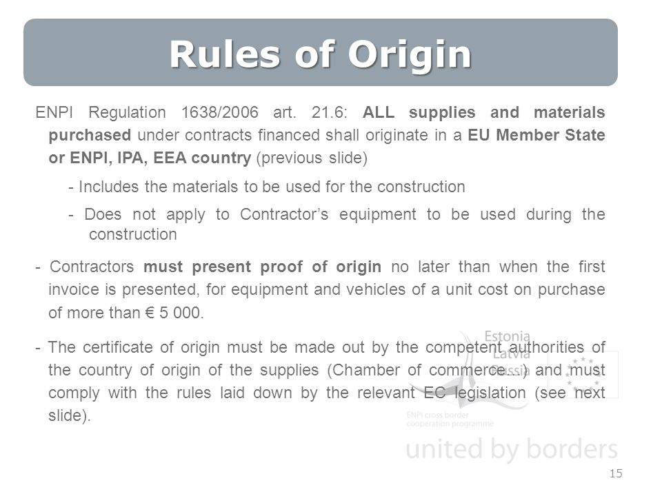 15 ENPI Regulation 1638/2006 art.
