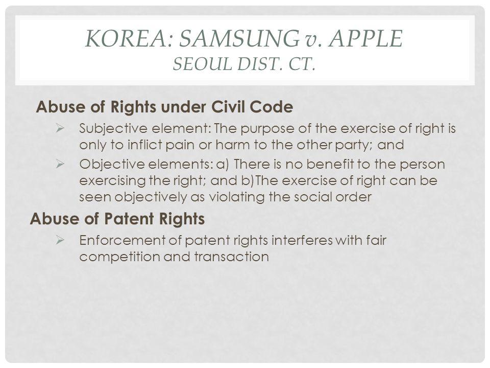 KOREA: SAMSUNG v.APPLE SEOUL DIST. CT.