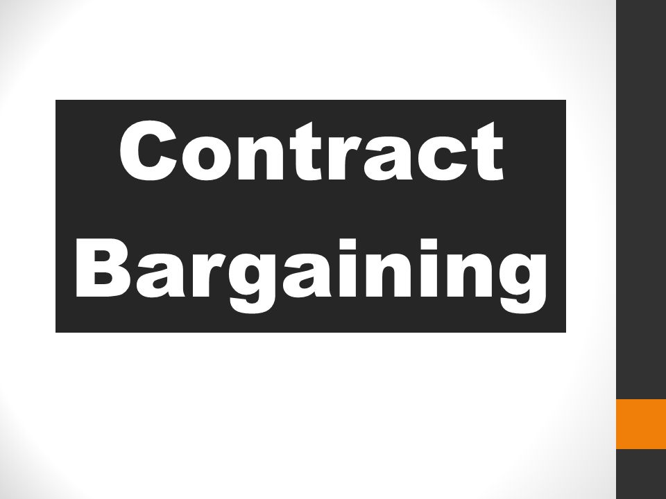 Contract Bargaining