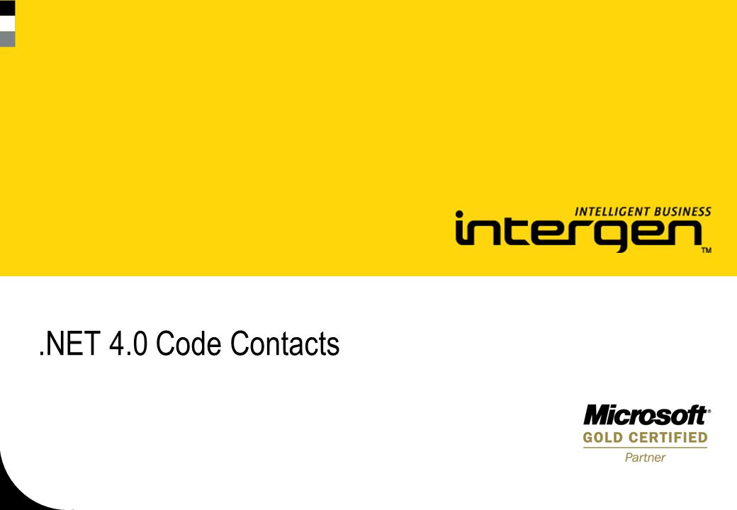 .NET 4.0 Code Contacts