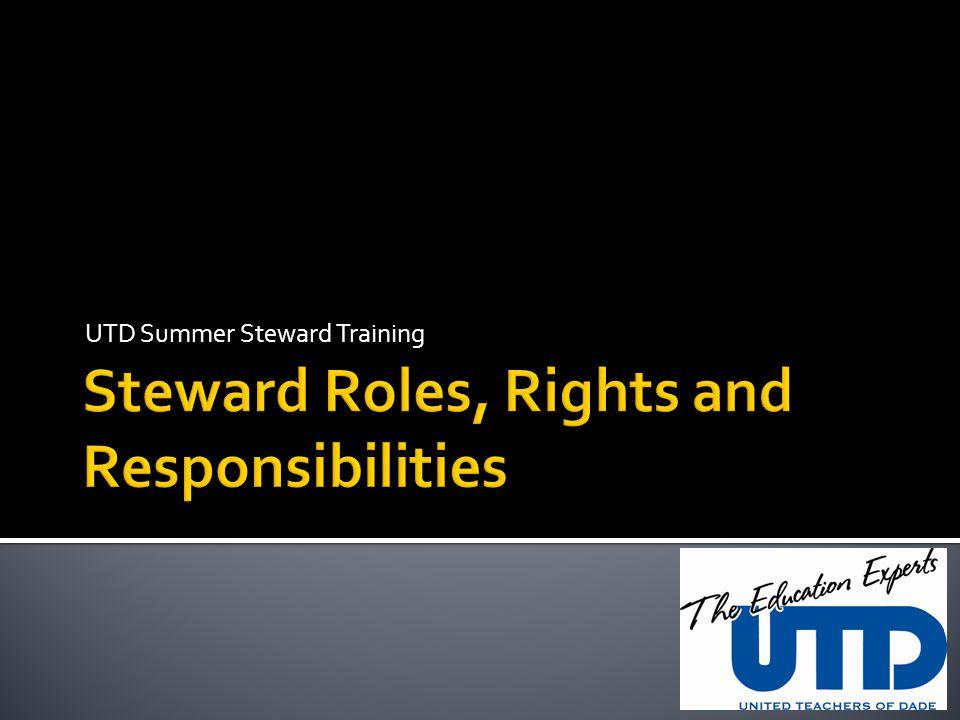 UTD Summer Steward Training