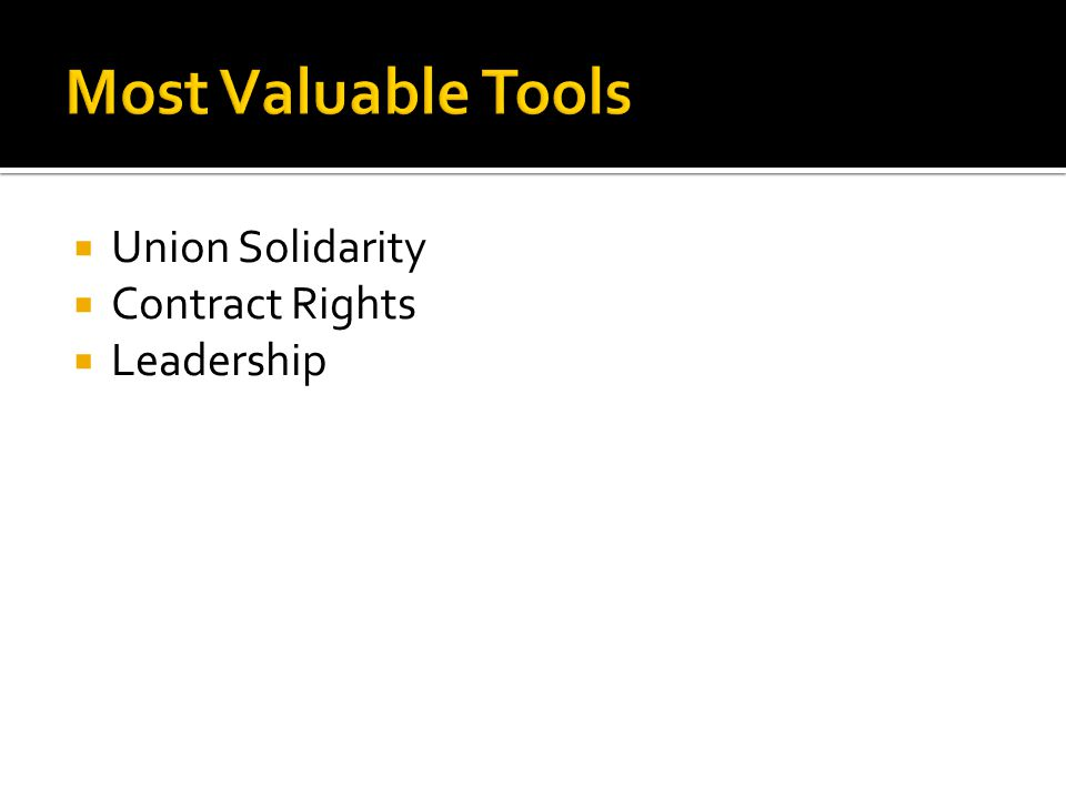 Union Solidarity Contract Rights Leadership