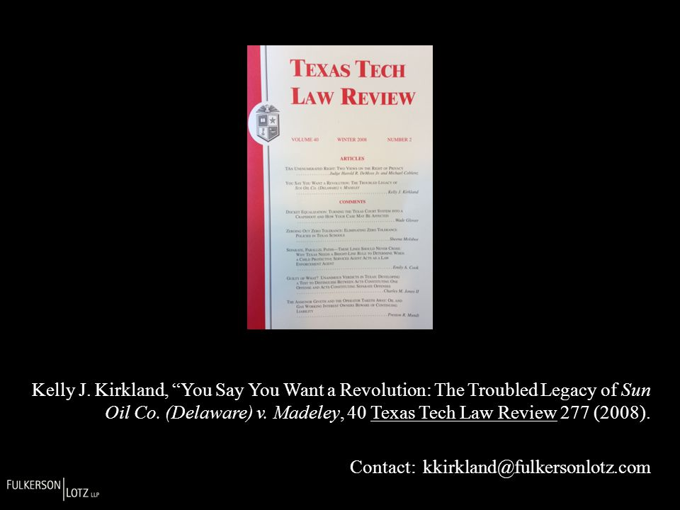 Kelly J.Kirkland, You Say You Want a Revolution: The Troubled Legacy of Sun Oil Co.