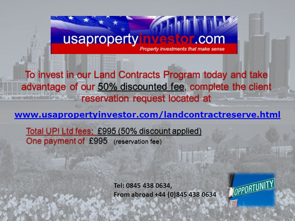 **Limited Offer!** Reserve with us today and get our UPI Sourcing & Management fee for just £995