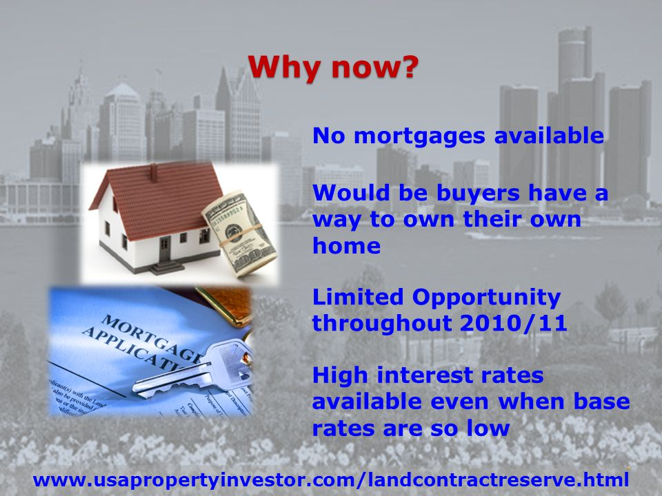 Invest in Detroit Property Today www.usapropertyinvestor.com/detroit.html Low Prices High Rental Demand High Cash Flow Available Mortgages Low Interest Rates Why now.