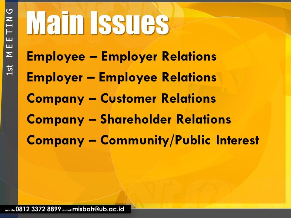 Public Opinion Only 17% – 25% organization has been conducted business ethics successfully (Gallup Survey) 1 s t M E E T I N G