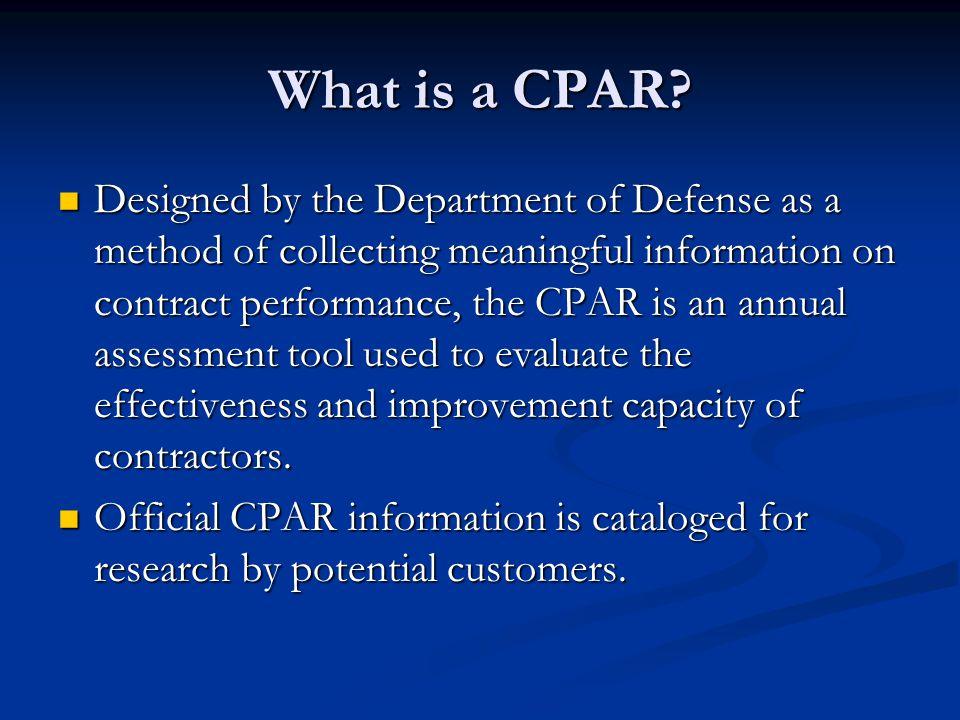 What is a CPAR.