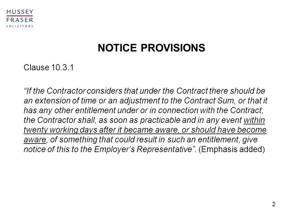 3 Akenhead J in WW Gear Construction Limited v McGee Group Limited [2010] EWHC 1460 (TCC) related to Clause 4.21 of the JCT Trade Contract which provided: The Trade Contractors application shall be made as soon as and in any event not later than two months after it had become, or should reasonably have become apparent to him that the regular progress of the works……..was likely to be affected……..