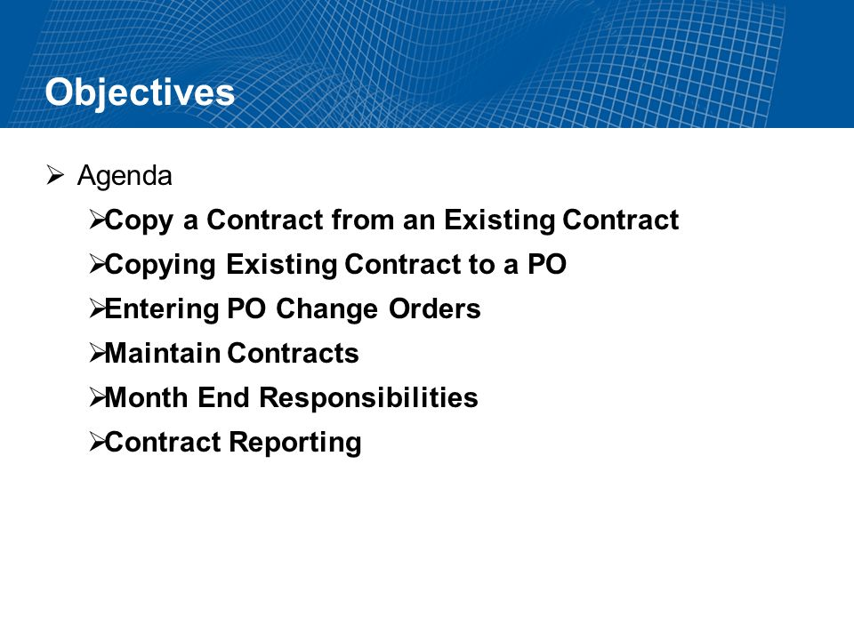 Copy a Contract from an Existing Contract