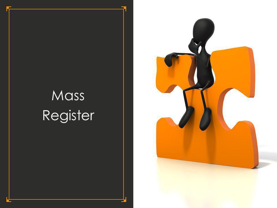 Mass Register