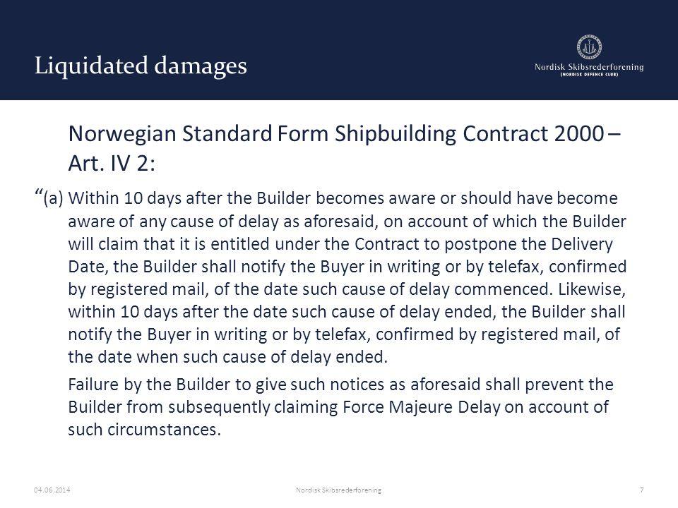 Yards refusal to build/delivery – Black mailing tactics Norwegian Standard Form Shipbuilding Contract Art.