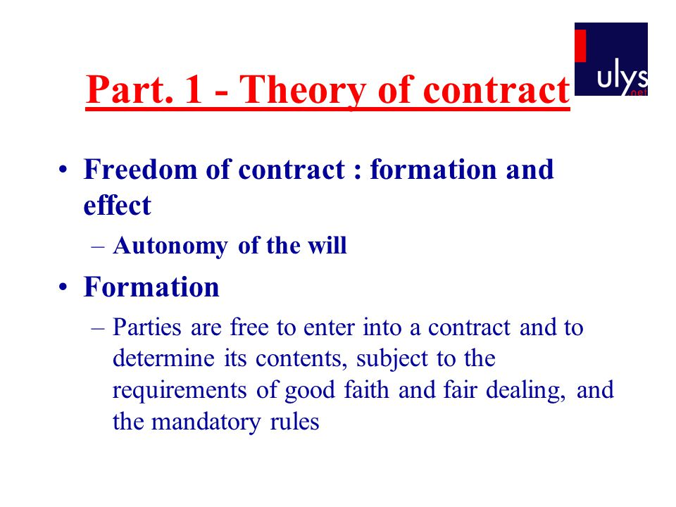 The issue of price Contract of enterprise, job contract –Determination of price can be made subsequently and based on elements unknown at the time of the conclusion (working hours…) Contract of sale –Determination by a third person.