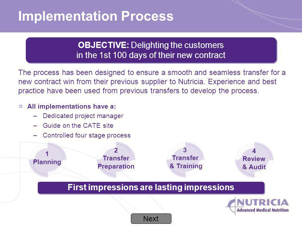 Implementation Process All implementations have a: –Dedicated project manager –Guide on the CATE site –Controlled four stage process 4 Review & Audit