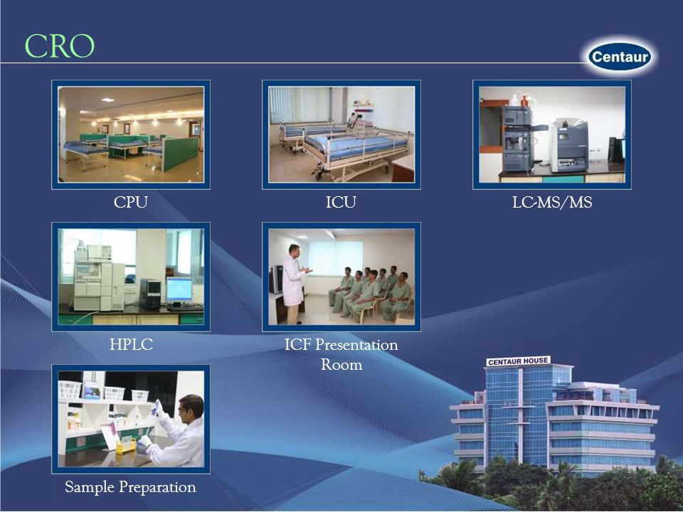 CRO CPUICULC-MS/MS HPLCICF Presentation Room Sample Preparation