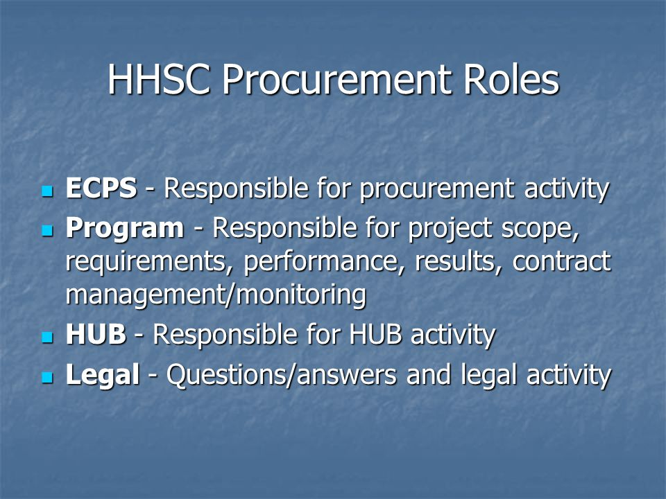 Vendor Conference Overview Procurement Activities RFP Overview HUB Items Questions Submittal Break Preliminary Responses to Questions Closing Comments